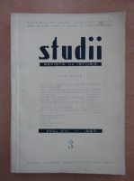 Studii. Revista de istorie, anul XVI, nr. 3, 1963