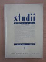 Studii. Revista de istorie, anul XVII, nr. 1, 1964