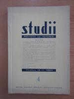 Studii. Revista de istorie, tomul 18, nr. 4, 1965
