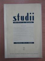 Studii. Revista de istorie, tomul 19, nr. 2, 1966
