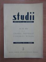 Studii. Revista de istorie, tomul 19, nr. 3, 1966