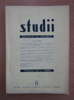 Studii. Revista de istorie, tomul 19, nr. 6, 1966