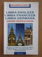Angela Condrovici - Limba engleza, limba franceza, limba germana