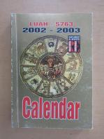 Calendar Luah pe anul 5763