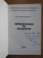 Dana Victoria Savu - Introducere in filosofie (cu autograful autoarei)