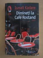 Anticariat: Ismail Kadare - Dimineti la Cafe Rostand