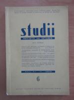 Anticariat: Studii. Revista de istorie, tomul 12, nr. 6, 1959