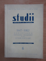 Anticariat: Studii. Revista de istorie, tomul 15, nr. 6, 1962