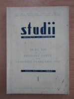 Anticariat: Studii. Revista de istorie, tomul 16, nr. 1, 1963