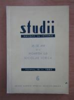 Anticariat: Studii. Revista de istorie, tomul 18, nr. 6, 1965