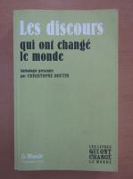 Anticariat: Christophe Boutin - Les discours qui ont change le monde