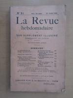 Anticariat: Revista La Revue hebdomadaire, nr. 31, iulie 1910