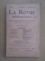Anticariat: Revista La Revue hebdomadaire, nr. 5, ianuarie 1910