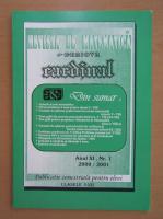 Anticariat: Revista de Matematica din Craiova, anul XI, nr. 1, 2000-2001