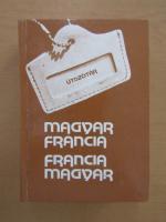 Dictionnaire pour touristes hongrois-francais, francais-hongrois