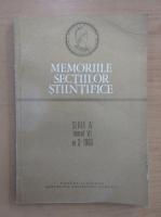 Anticariat: Revista Memoriile Sectiilor Stiintifice, seria IV, tomul VI, nr. 3, 1983