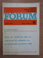 Anticariat: Revista Forum, anul XXXII, nr. 8, 1990
