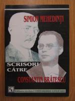 Simion Mehedinti - Scrisori catre Constantin Bratescu