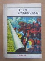 Virgiliu Ene, Ion Nistor  - Studii eminesciene