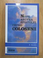 Anticariat: Note asupra epistolei catre coloseni
