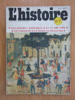 Anticariat: Revista L'histoire, nr. 1, mai 1978