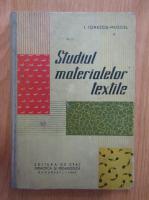 I. Ionescu-Muscel - Studiul materialelor textile