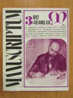 Revista Manuscriptum, anul XIII, nr. 3 (48), 1982