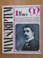 Revista Manuscriptum, anul XV, nr. 1 (54), 1984