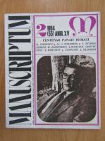Revista Manuscriptum, anul XV, nr. 2 (55), 1984