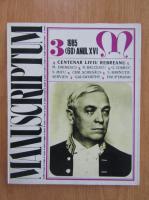 Revista Manuscriptum, anul XVI, nr. 3 (60), 1985