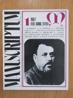 Revista Manuscriptum, anul XVIII, nr. 1 (66), 1987