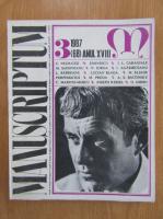 Revista Manuscriptum, anul XVIII, nr. 3 (68), 1987