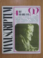 Revista Manuscriptum, anul XVIII, nr. 4 (69), 1987