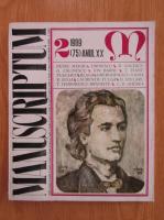 Revista Manuscriptum, anul XX, nr. 2 (75), 1989