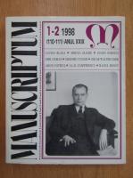 Revista Manuscriptum, anul XXIX, nr. 1-2 (110-111), 1998