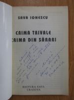 Anticariat: Sava Ionescu - Crima Trivale. Crima din Sarari (cu autograful autorului)