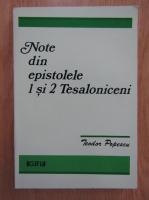 Teodor Popescu - Note din epistolele 1 si 2 Thesaloniceni