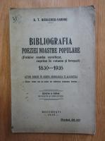 Anticariat: G.T. Niculescu Varone - Bibliografia poeziei noastre populare. Folclor roman versificat, cuprins in volume si brosuri