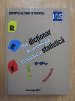 Mic dictionar de termeni din economie si statistica, roman-englez-francez