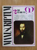 Anticariat: Revista Manuscriptum, anul XVII, nr. 2 (63), 1986