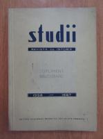 Anticariat: Studii. Revista de istorie. Supliment bibliografic, 1958-1967
