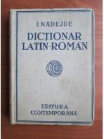 I. Nadejde - Dictionar Latin-Roman
