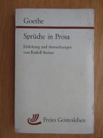 Anticariat: Goethe - Spruche in Prosa
