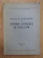Studii si cercetari de istorie literara si folclor, anul III, 1954