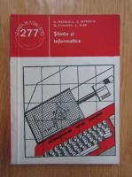 Anticariat: Dan Mateescu, G. Petrescu - Stiinta si informatica