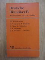 Anticariat: Herausgegeben vin H.-U. Wehler - Deutsche Historiker IV
