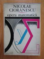 Nicolae Cioranescu - Opera matematica