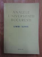 Anticariat: Analele Universitatii Bucuresti. Limbi slave, anul XX, 1971