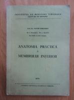 Anticariat: Victor Dimulescu - Anatomia practica a membrului inferior
