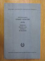 Dictionarul limbii romane (tomul XI, partea a 2-a)